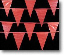 Four Rows of Red Triangle Pennant Tape Overlapping